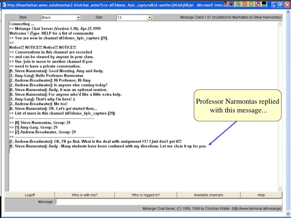 Professor Narmontas replied