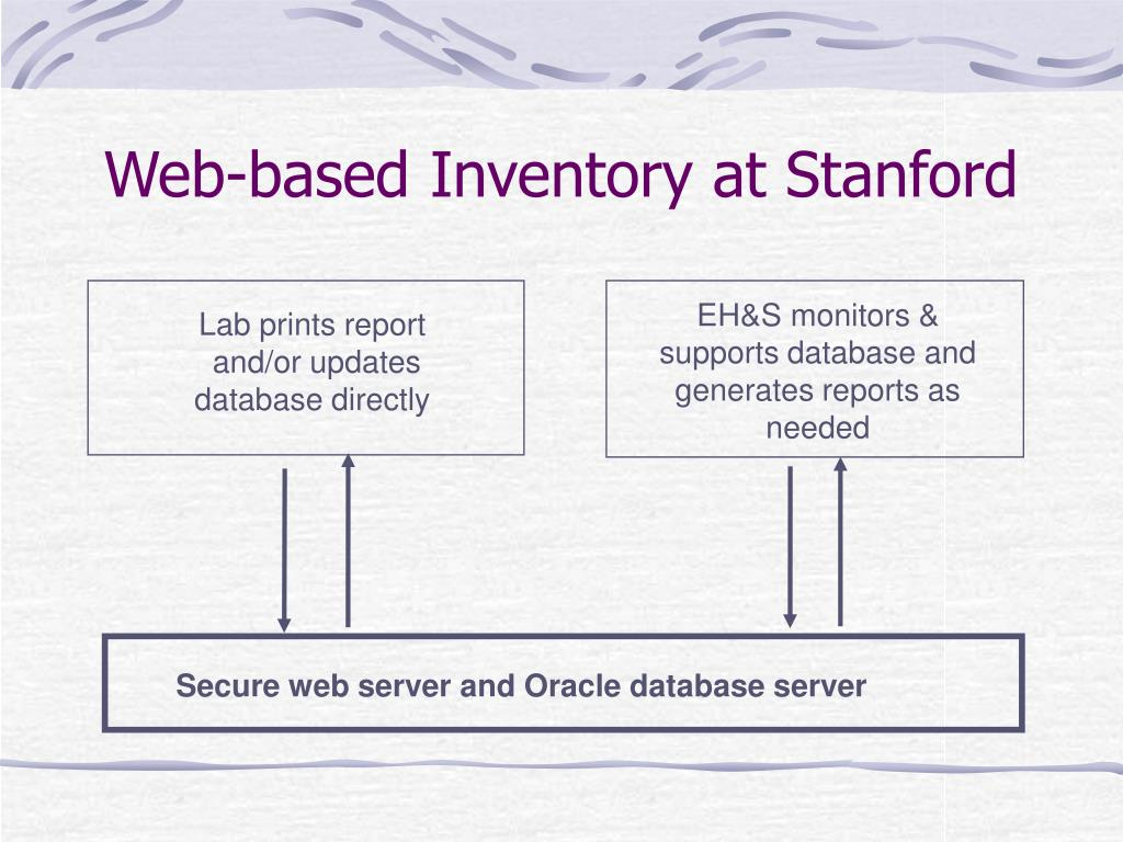 Web-based Inventory at Stanford