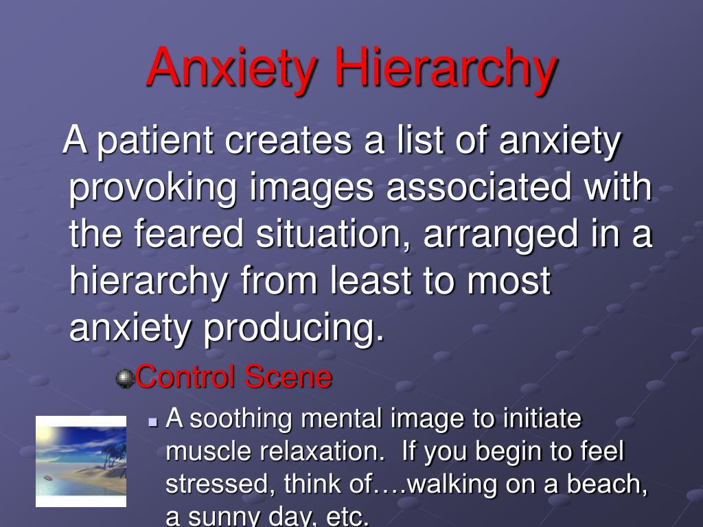Anxiety Hierarchy