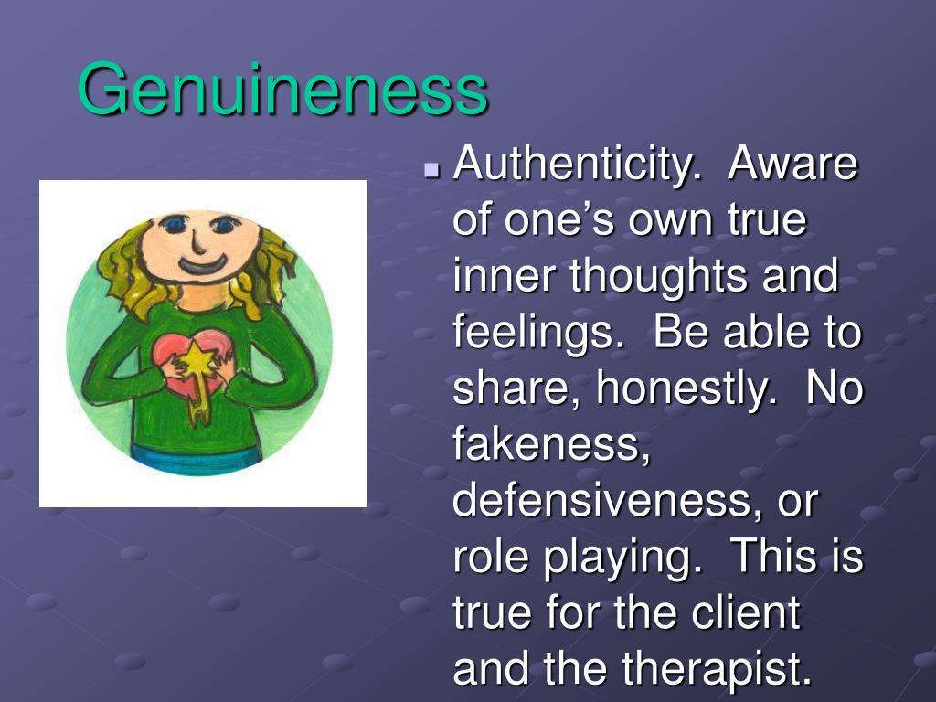 Genuineness
