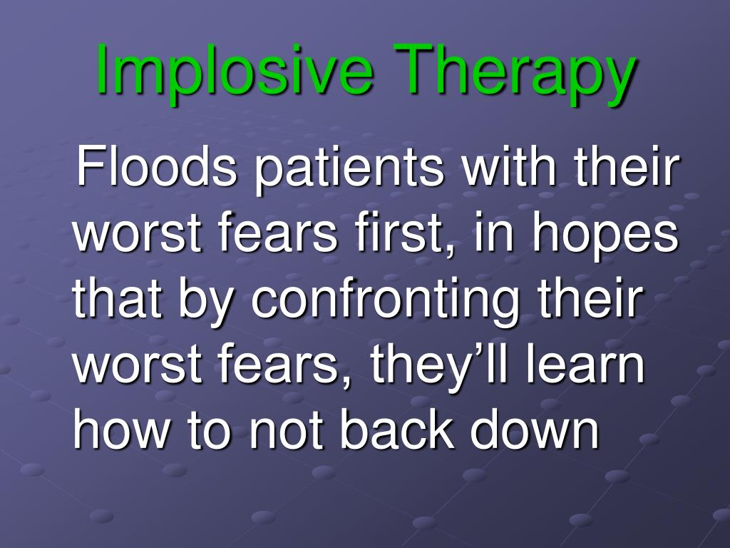 Implosive Therapy
