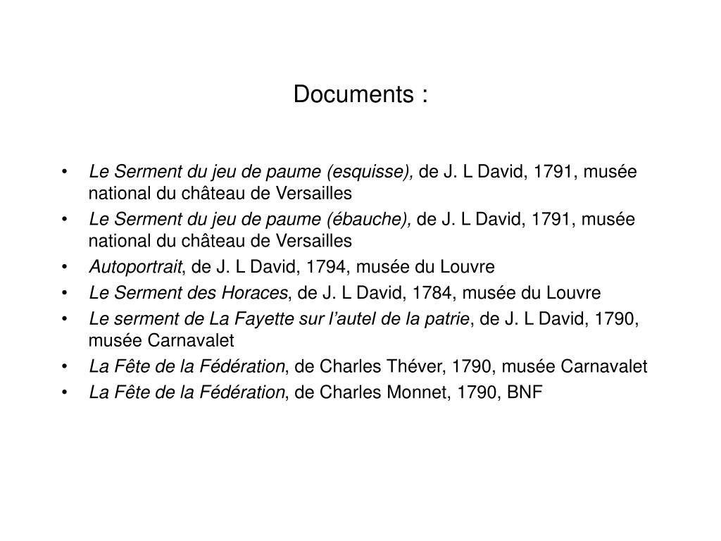 Documents :