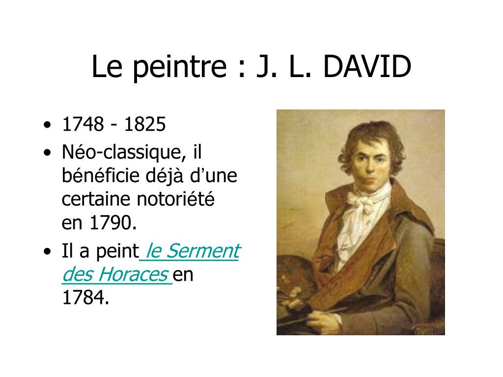 Le peintre : J. L. DAVID