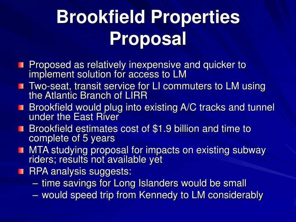 Brookfield Properties Proposal