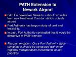 path extension to newark airport