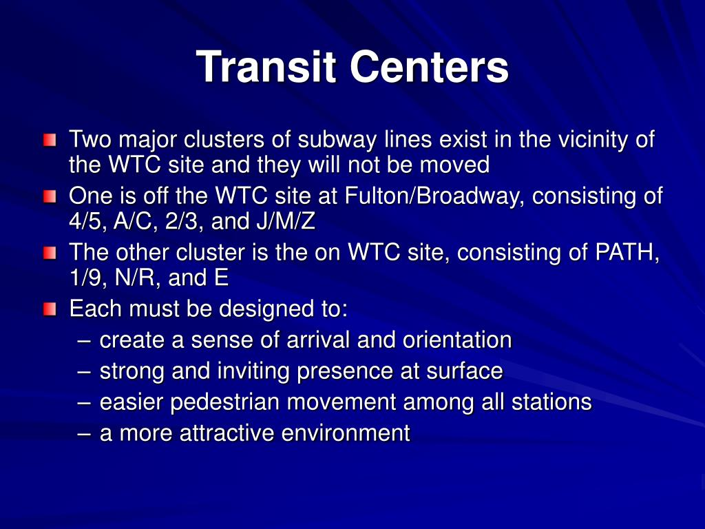 Transit Centers