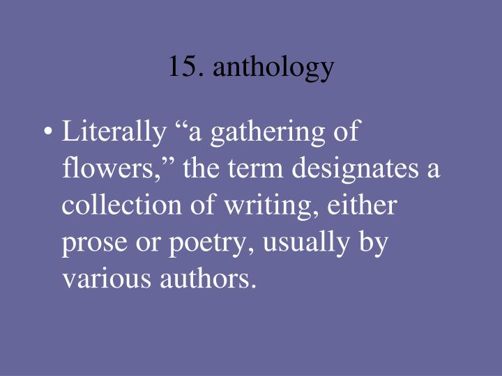15. anthology