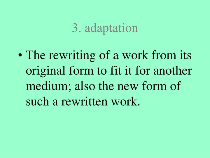 3. adaptation