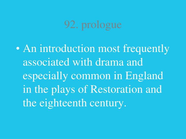 92. prologue
