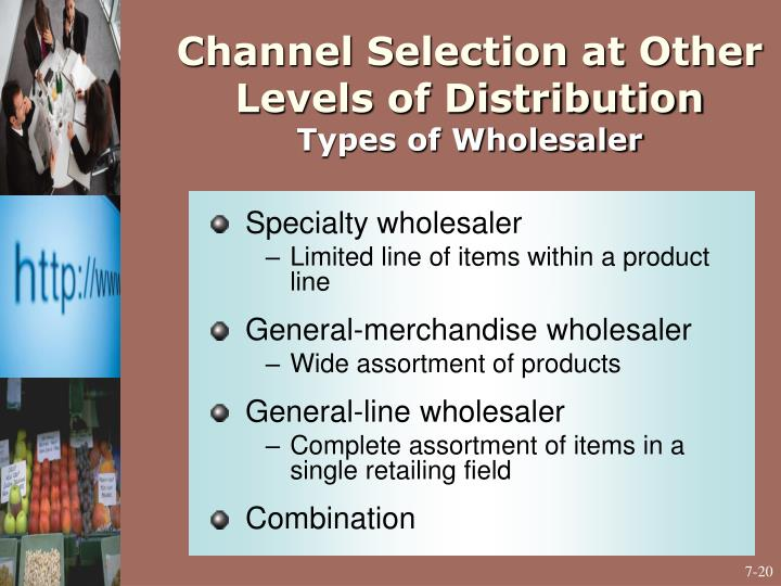 Channel Selection at Other Levels of Distribution