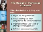 the design of marketing channels1
