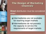 the design of marketing channels2