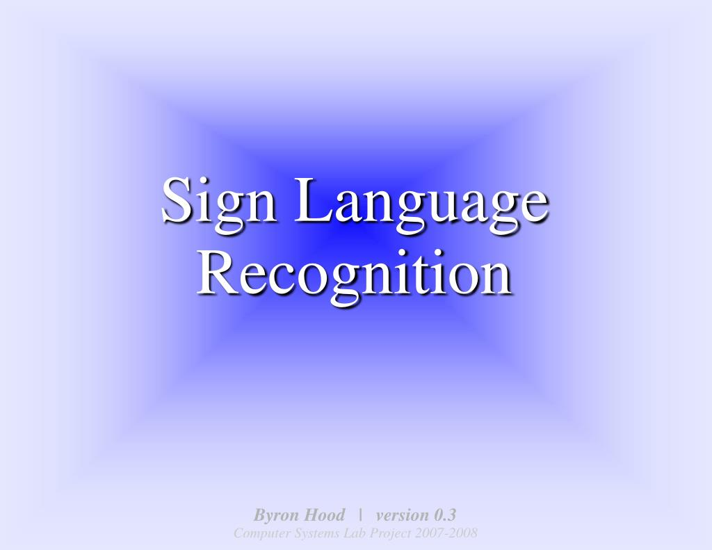 sign language recognition l.