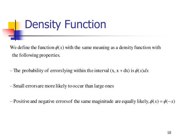 Density Function