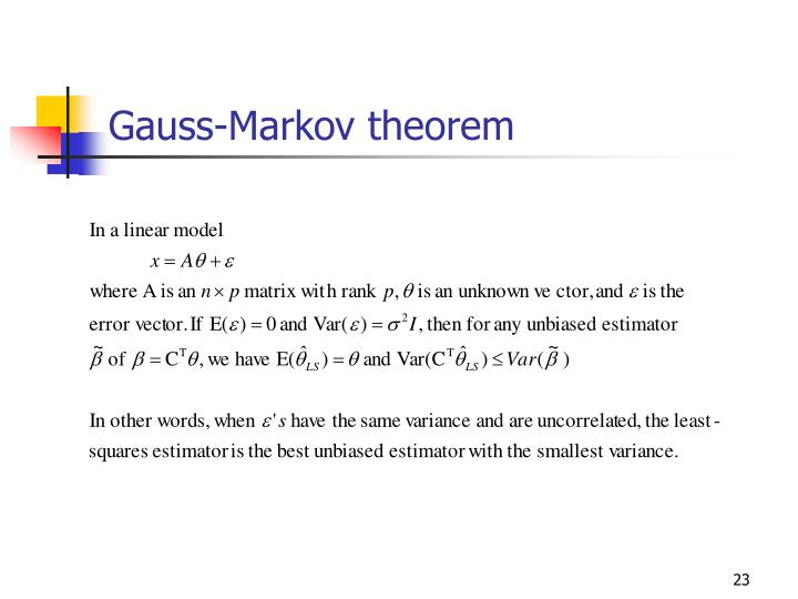 Gauss-Markov theorem