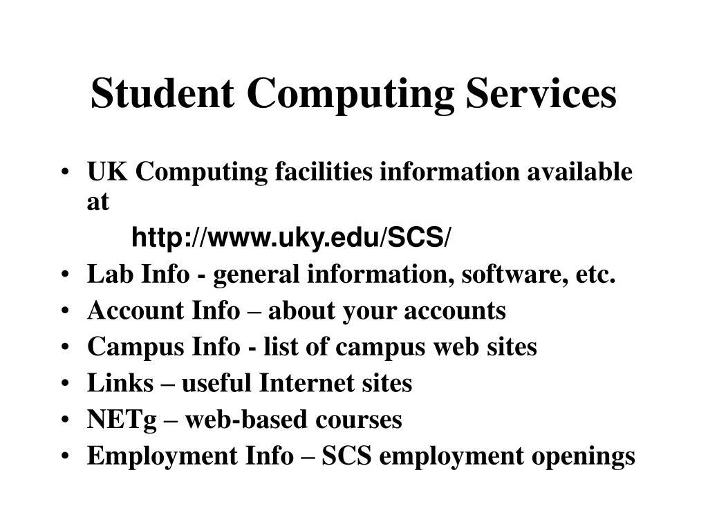 student computing services l.
