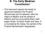 b the early medinan constitution