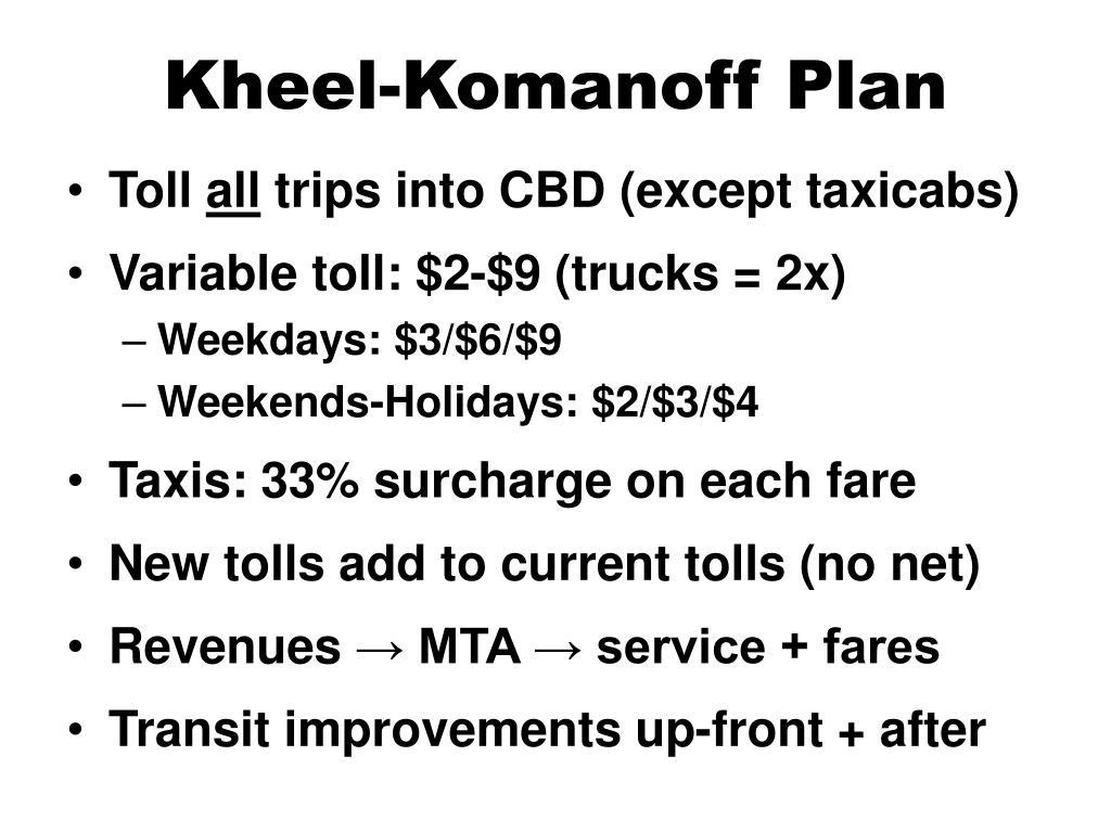 Kheel-Komanoff Plan