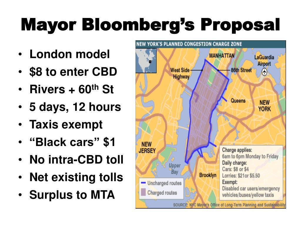 Mayor Bloomberg's Proposal