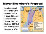 mayor bloomberg s proposal