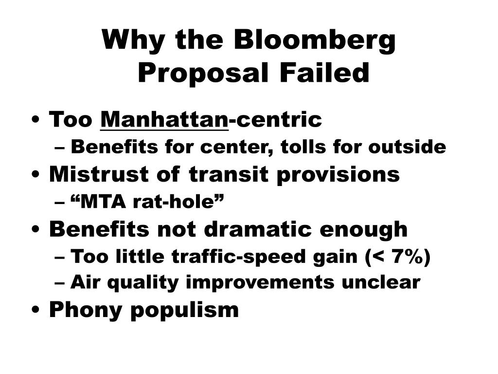 Why the Bloomberg