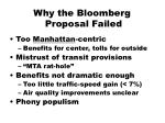 why the bloomberg proposal failed