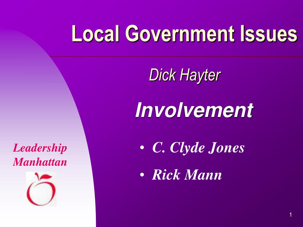 local government issues dick hayter l.