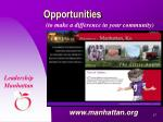 opportunities to make a difference in your community