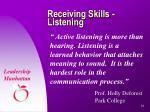 receiving skills listening12