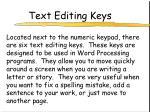 text editing keys