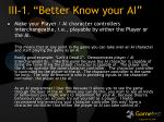 iii 1 better know your ai