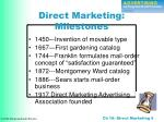 direct marketing milestones