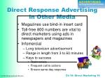 direct response advertising in other media
