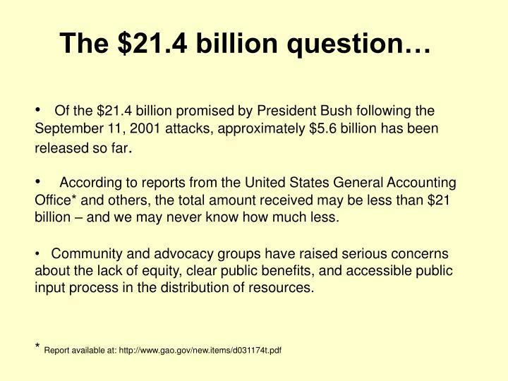 The 21 4 billion question