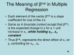 the meaning of hat in multiple regression