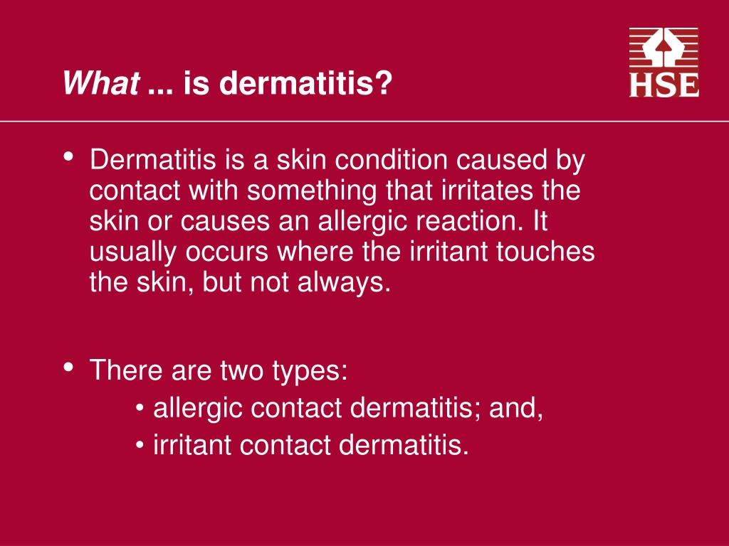PPT - Occupational Dermatitis What … ? PowerPoint
