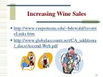 increasing wine sales