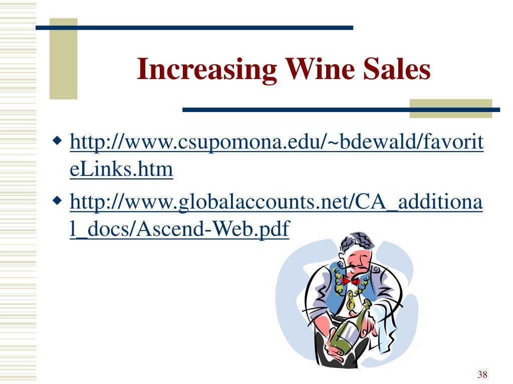Increasing Wine Sales