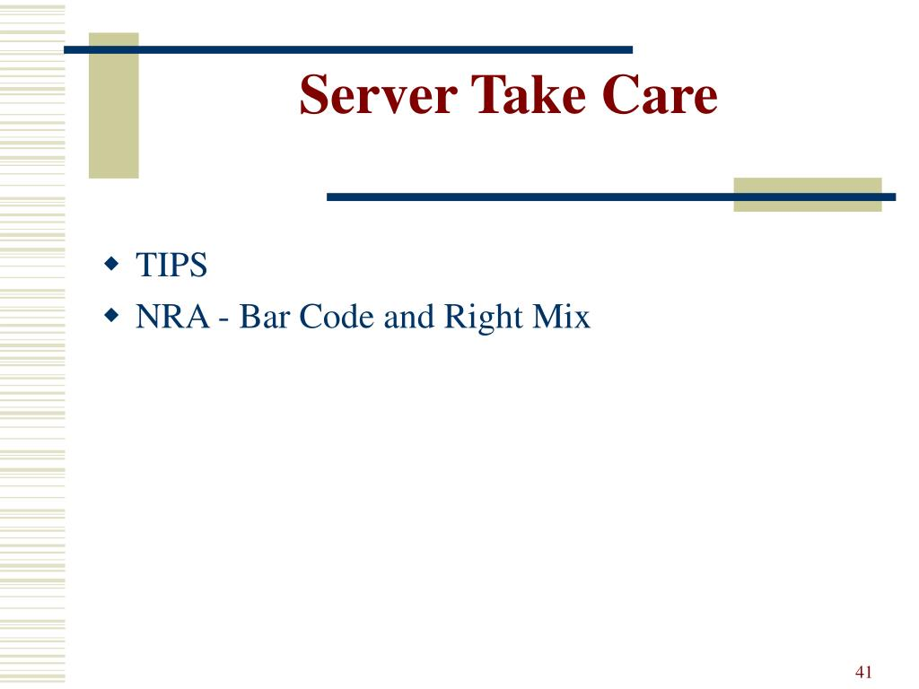 Server Take Care