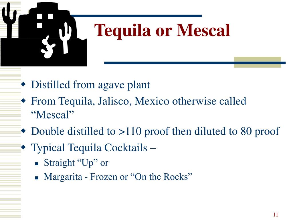 Tequila or Mescal