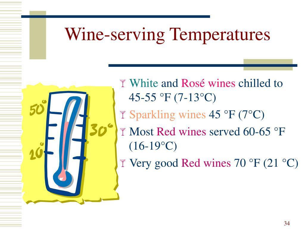 Wine-serving Temperatures