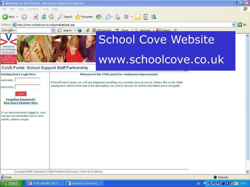 School Cove Website