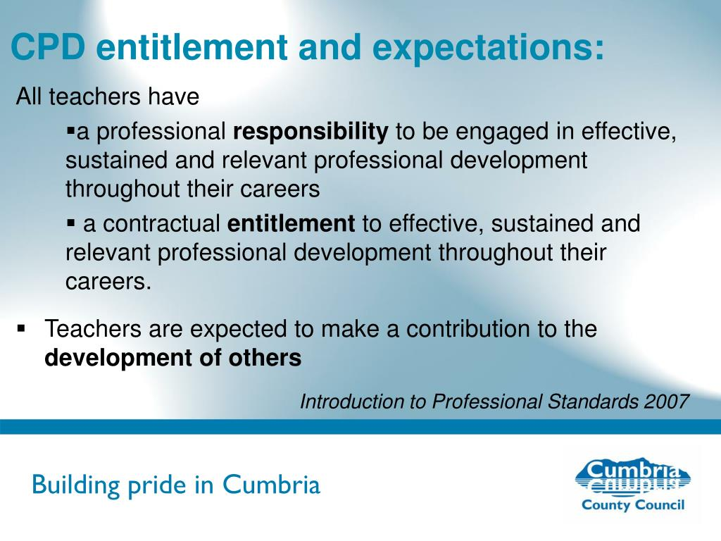 CPD entitlement and expectations: