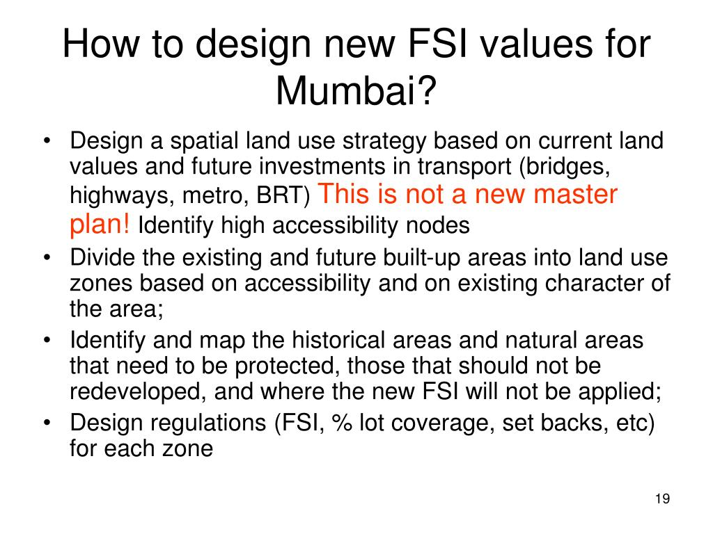 How to design new FSI values for Mumbai?