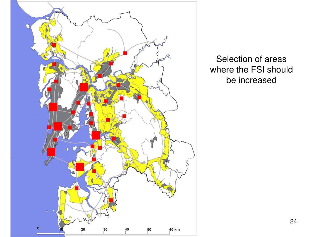 Selection of areas where the FSI should be increased