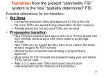 transition from the present commodity fsi system to the new spatially determined fsi