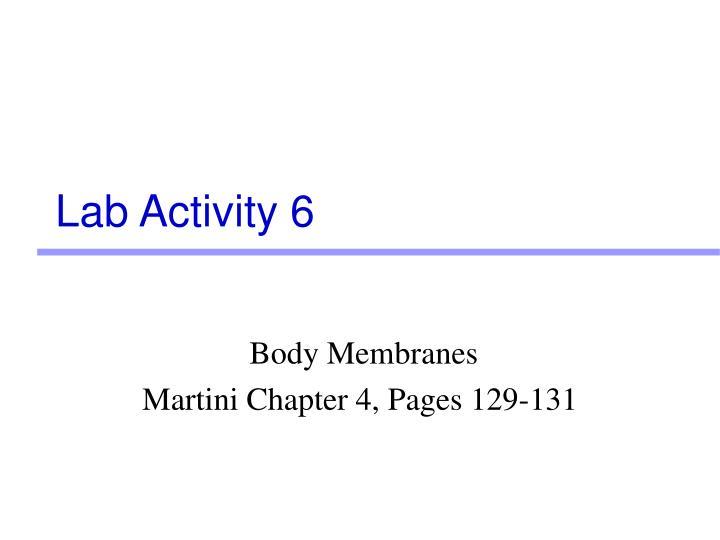 Lab Activity 6