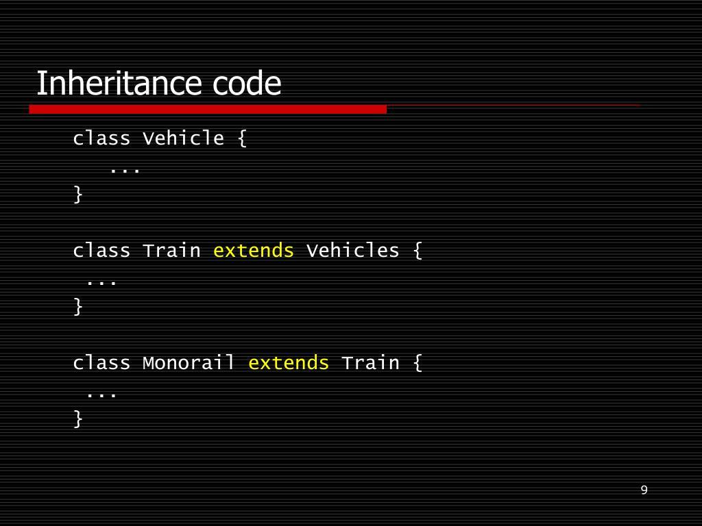 Inheritance code