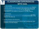 classroom experiences with sail15