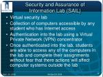 security and assurance of information lab sail